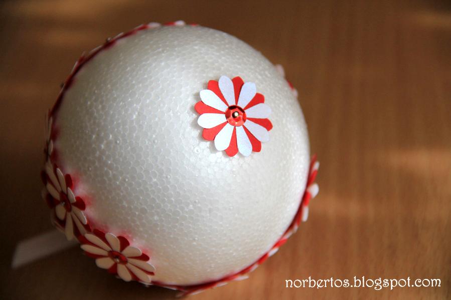 How to make Christmas tree ball half way done