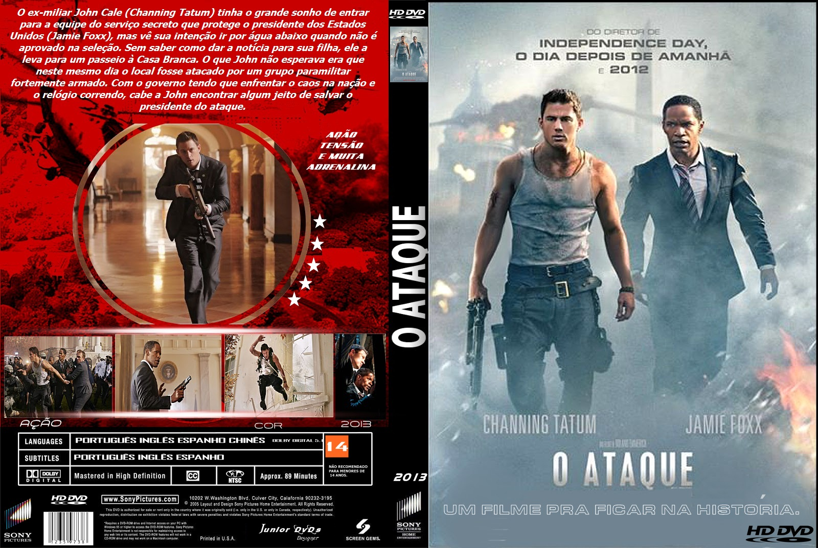 O Ataque DVD-R CAPA DO FILME O ATAQUE   JUNIOR DVDS DESIGNER