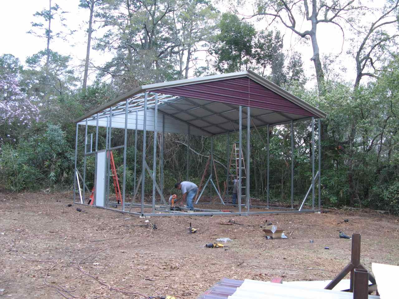 Soccer Field In My Backyard : Last summer I constructed a metal pole building in my back yard Mine