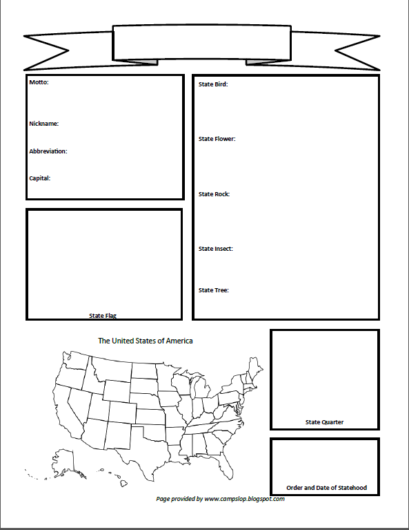 US Blank Geography Page