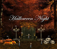 Halloween Night digital fantasy backgrounds