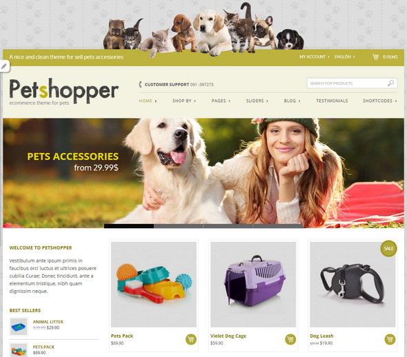 Petshopper Free Portfolio WordPress theme