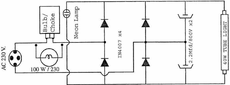 Mosquito Killer Circuit Diagram | Choke Circuit To Run Broken Filament 40watt Tubelights My Useful