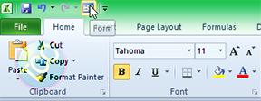 Aktifkan Data Form pada Excel