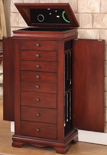 locking jewelry armoire