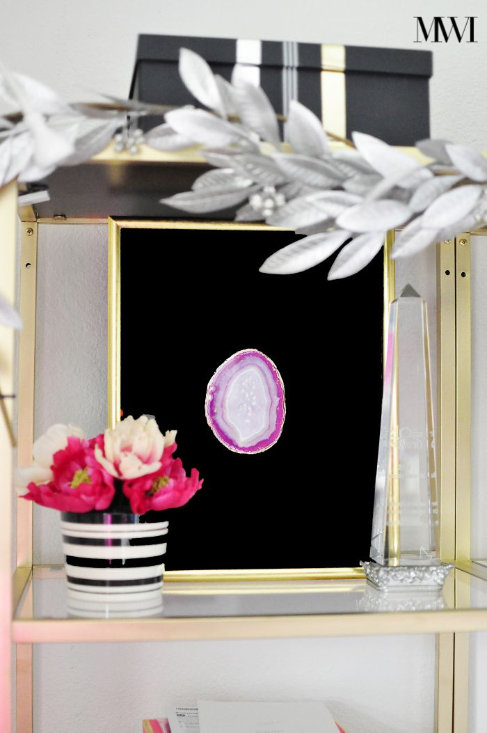 diy agate tutorial shadowbox zgallerie