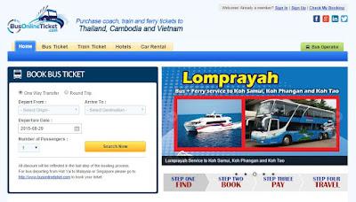 BusOnlineTicket Thailand Portal
