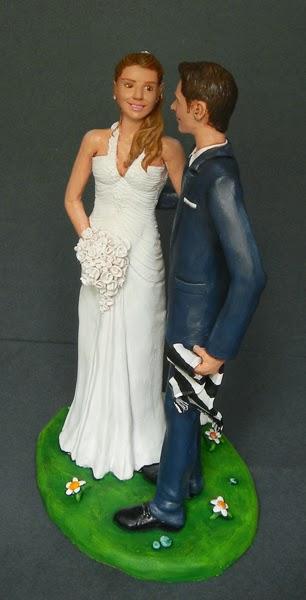 sposi torta abito da sposa elegante cake topper sposini orme magiche