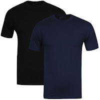 Nike Men's Short Sleeved T-Shirt Navy/Black 2-Pack