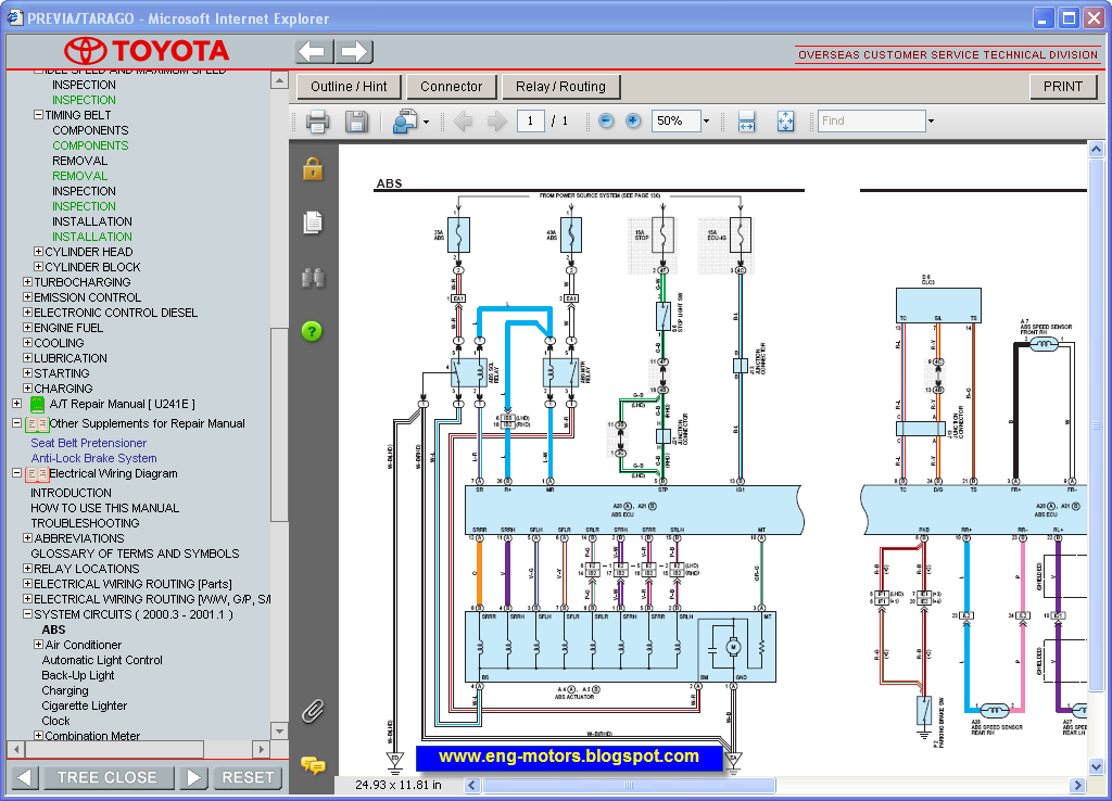 Toyota Previa    Tarago Repair Manual  U0635 U064a U0627 U0646 U0629  U062a U0648 U064a U0648 U062a U0627