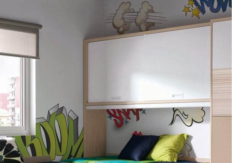 Dormitorio juvenil 605fm 008 muebles dormitorios for Puente nido juvenil