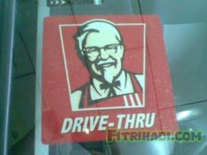 sticker kfc drive thru