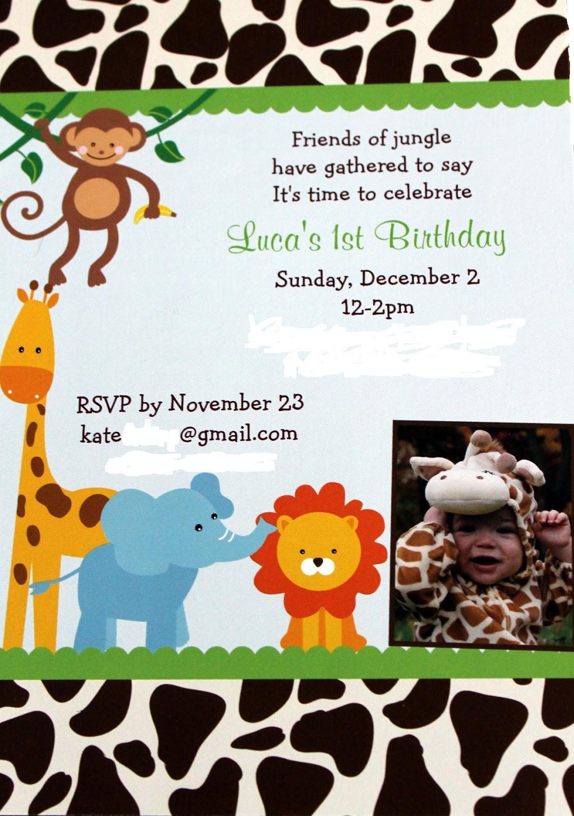 Life with Luca: Luca's safari first birthday!