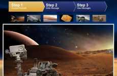 La NASA permite enviarle una tarjeta postal al Curiosity en Marte.