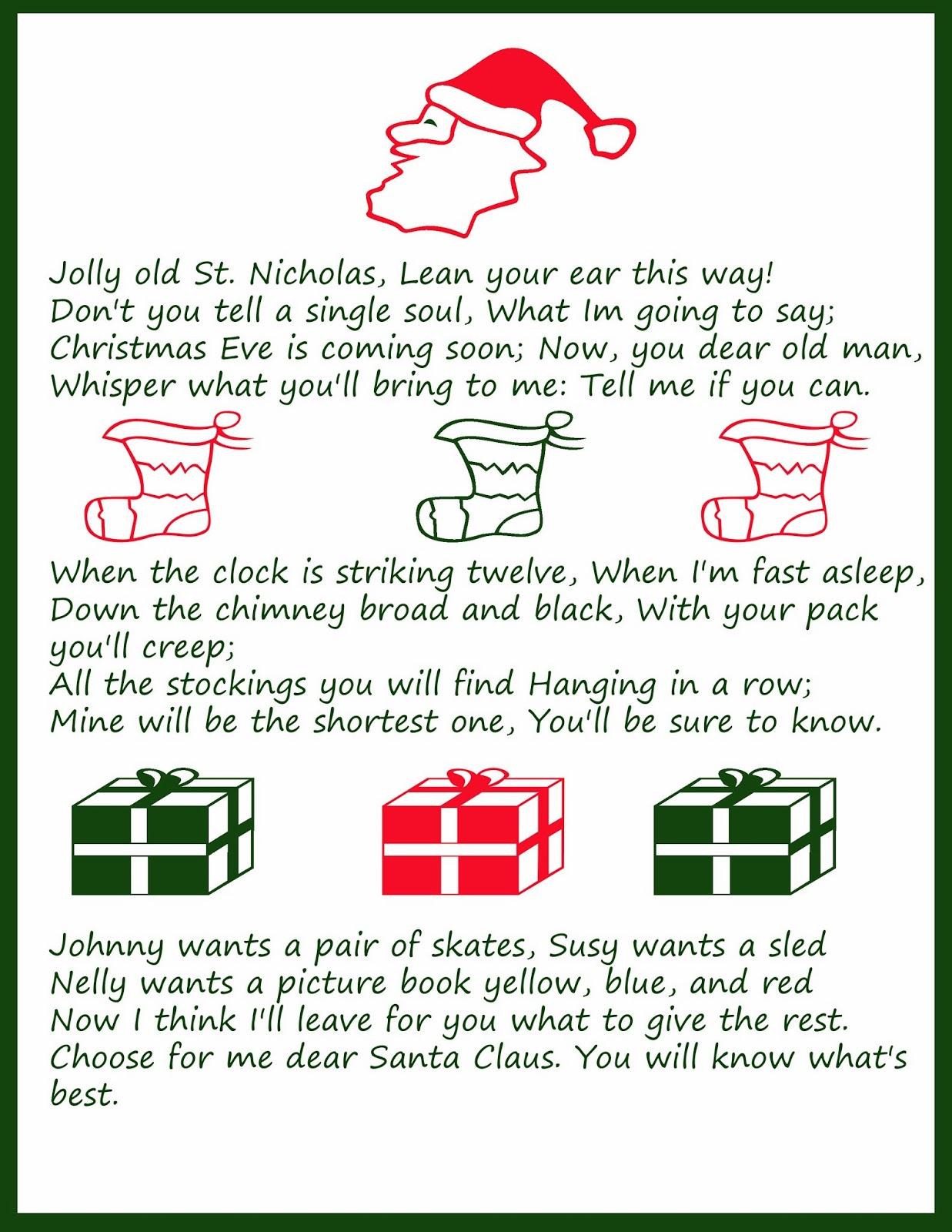 Free Christmas Song Lyric Printables -