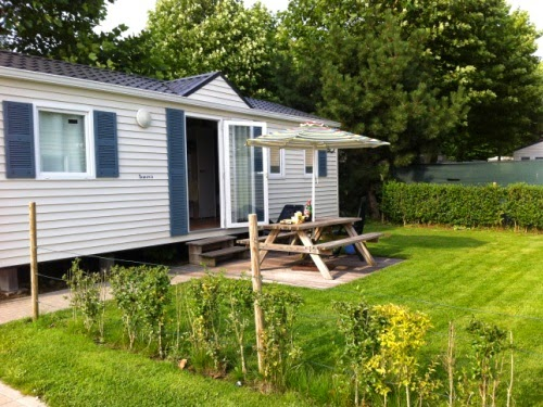 Trip to Belgium: Mobile home at our campsite