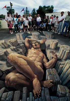 street chalk art - famous sidewalk art artist kurt wenner
