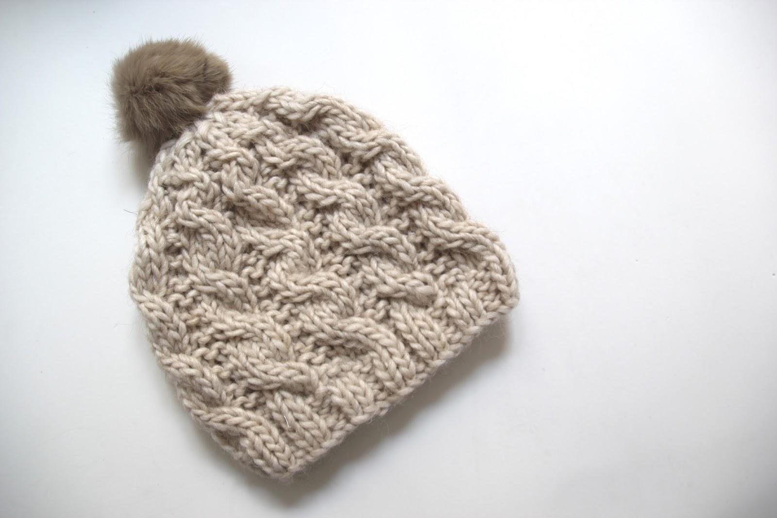 Tutorial de lana: Como hacer gorro trenzado (patrones gratis ...