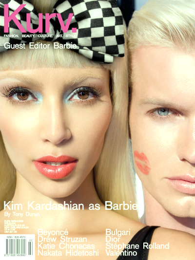 nicki minaj barbie diaries. Kim Kardashian as Barbie with