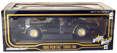 Pontiac Diecast  Greenlight 1/18th Scale 1980 Pontiac Trans AM Bandit Blackk