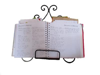 recipe, book, stand