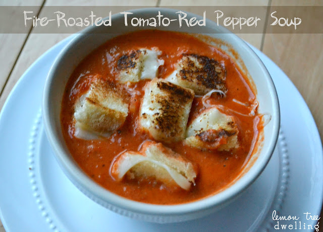 Fire Roasted Tomato-Red Pepper Soup from Lemon Tree Dwelling
