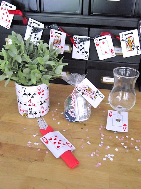 card party ideas glass marker