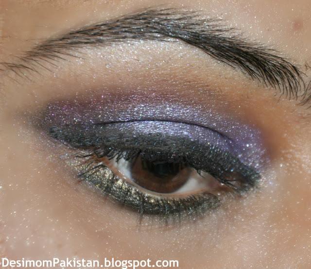 eyemakeup using profusion eye shadow palette dark