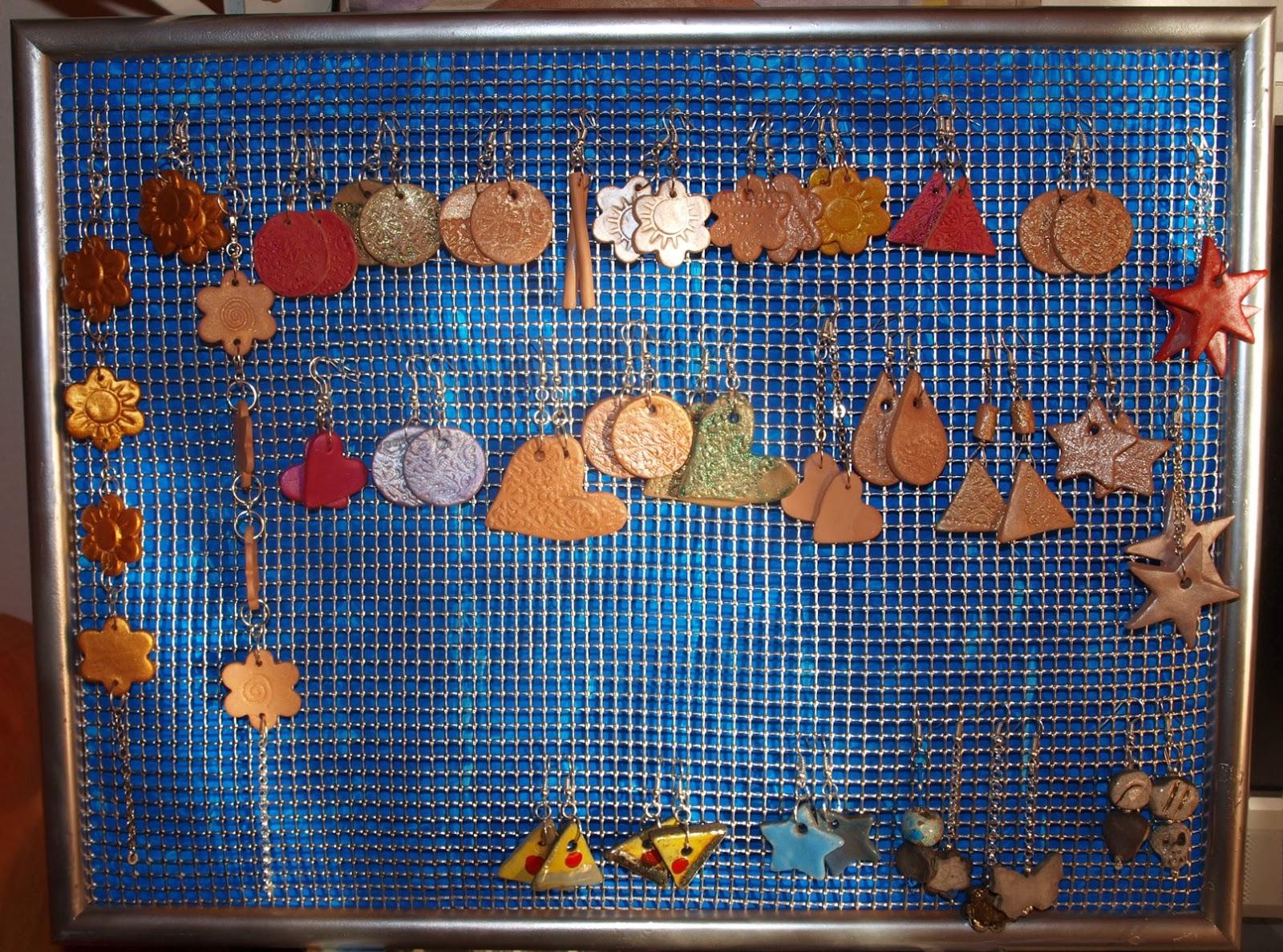 Simos e il suo laboratorio cornice porta orecchini - Porta gioielli ikea ...