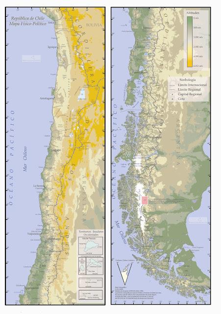Mapa Físico de Chile