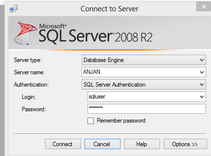 sql server authentication in ms sql server