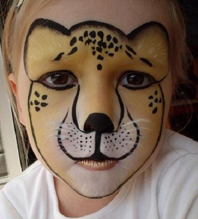Con estas manitas pinta tu cara de le n tigre for Caras pintadas para halloween