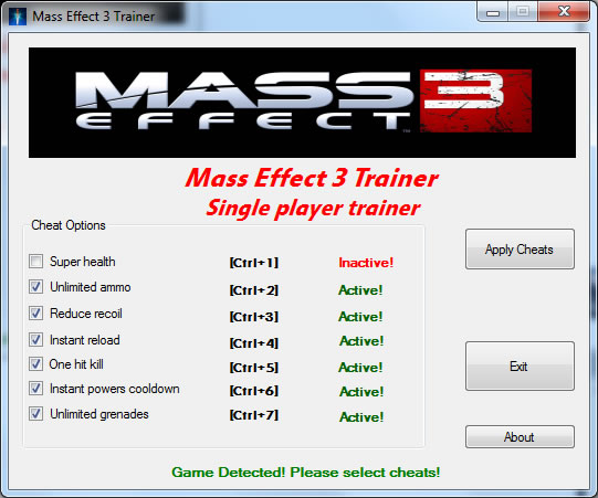 mass effect 3 trainer pc all versions