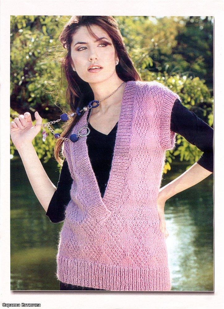 вязание спицами. безрукавка. женские модели.