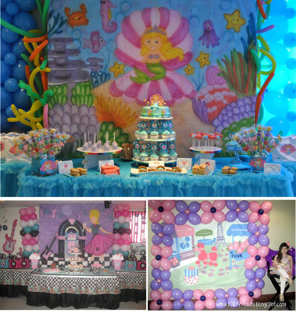 Party tales party decor table backdrops new in the shop for Mural collage