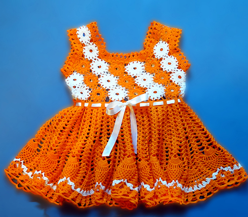 Orange Summer Baby Dress