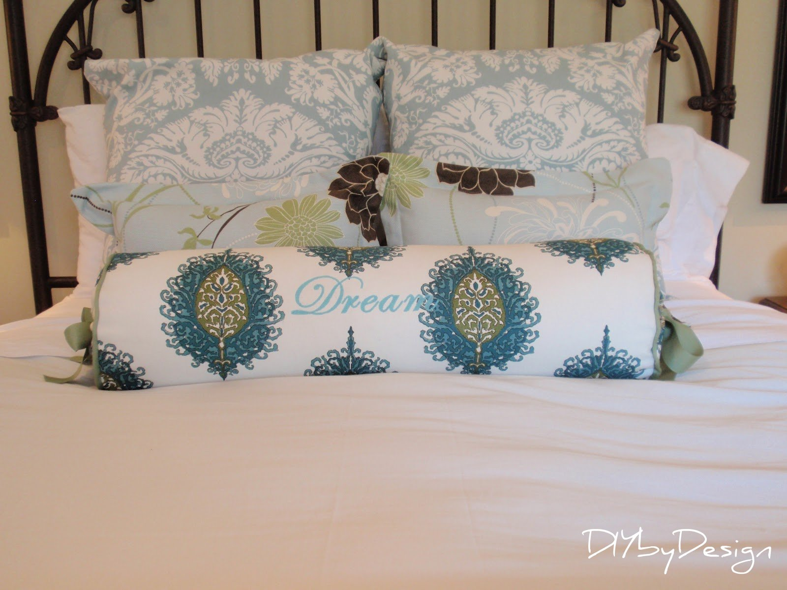 how to make a bolster cover