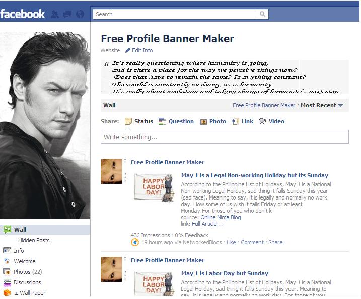 Настройка профиля фейсбук