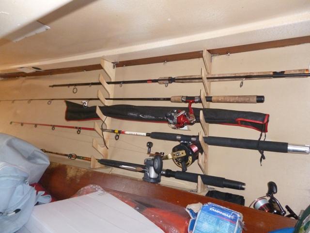 Eudaimonia blog di vela e di un sogno da realizzare for Porta canne da pesca a muro