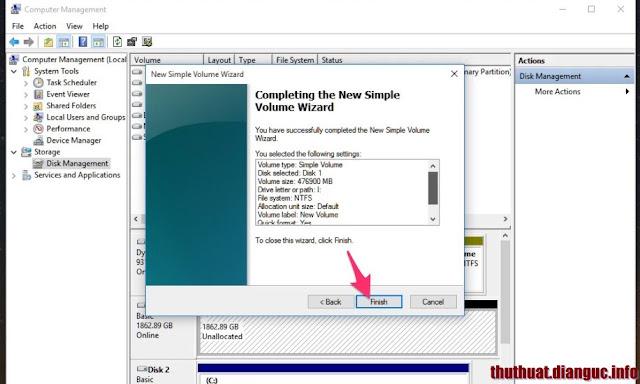 hướng dẫn chia lại ổ cứng trên windows 10