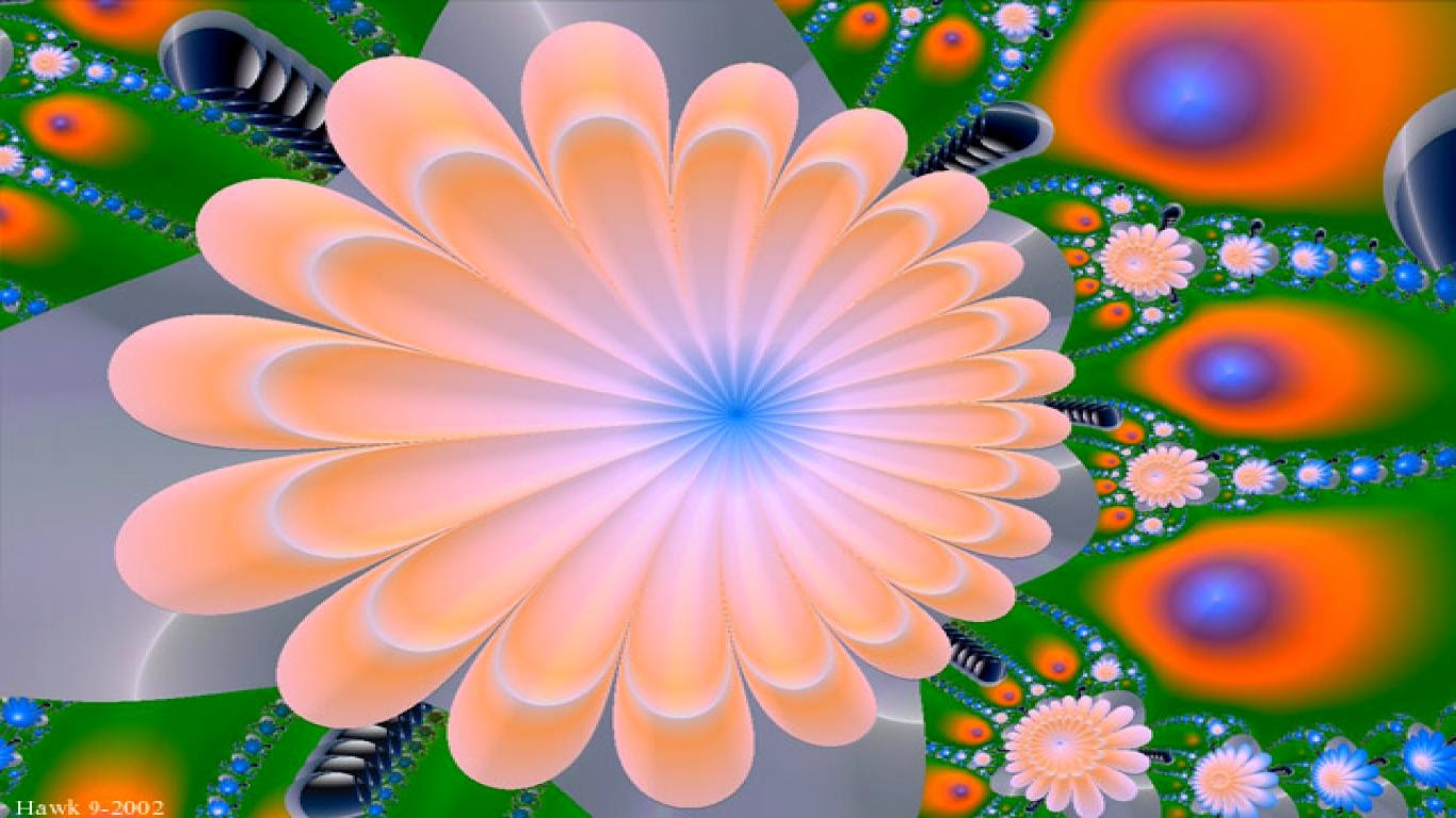 3d Flower Wallpaper 1366 x 768