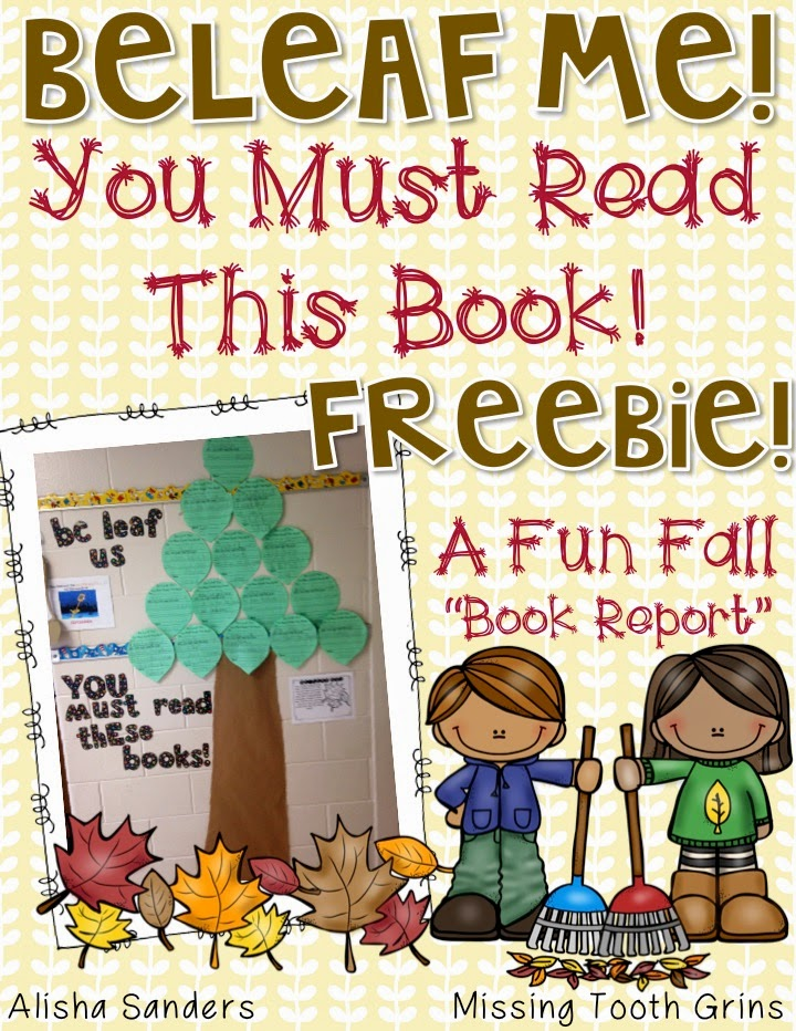 http://www.teacherspayteachers.com/Product/Be-Leaf-Me-Fall-Themed-Book-Report-1513503