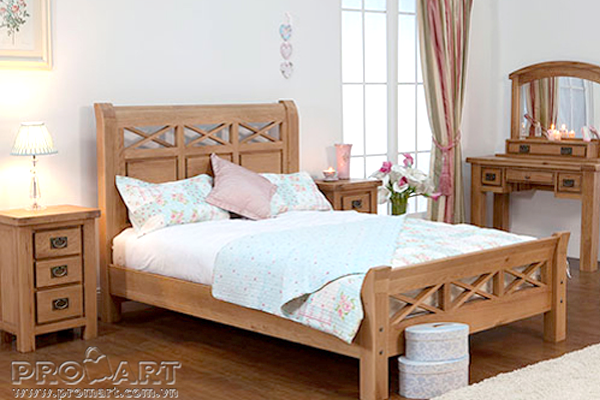Giường ngủ gỗ sồi Lauren 1.6x2m