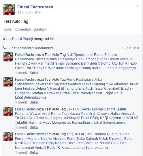 Cara Menandai Semua Teman di Status Facebook Otomatis ( Auto Tag )