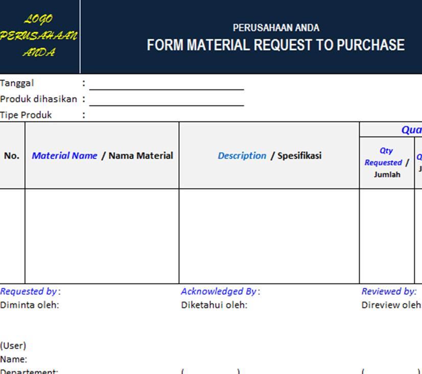 materials request