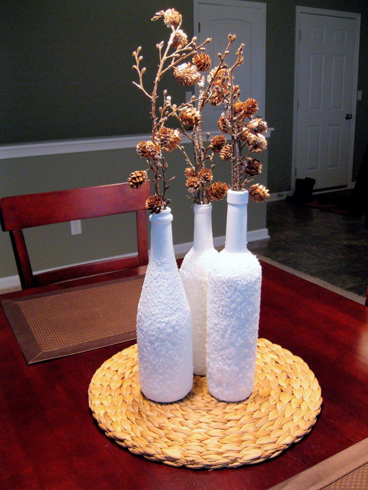 order of grace with a side of sass diy wine bottle christmas decor. Black Bedroom Furniture Sets. Home Design Ideas