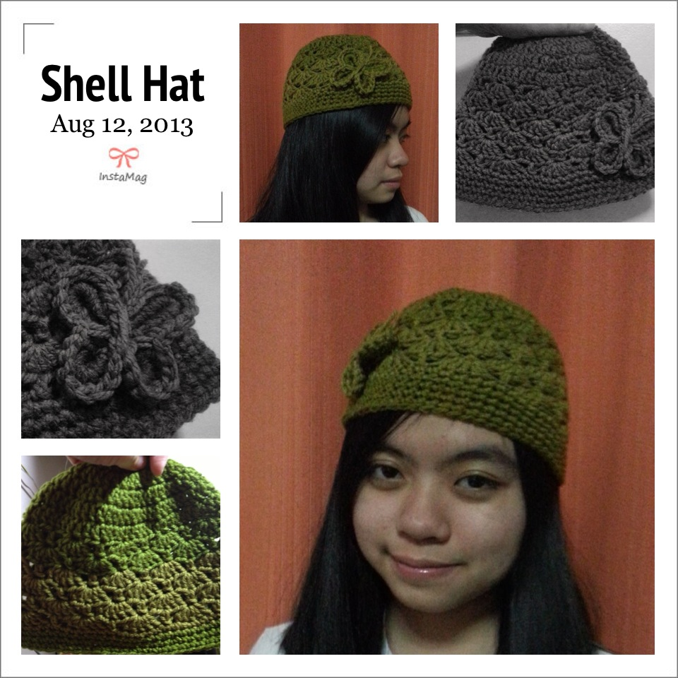 My Cute And Lovable Space Crochet Project Shell Beanie