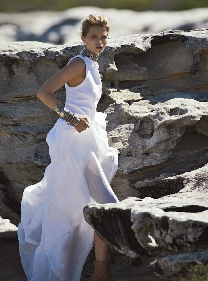 Abbey Lee Kershaw for Vogue Australia April 2014 by Gilles Bensimon x Christine Centenera