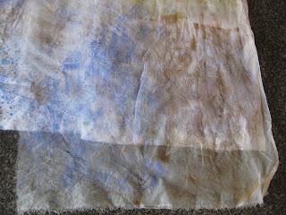 silk organza mono print
