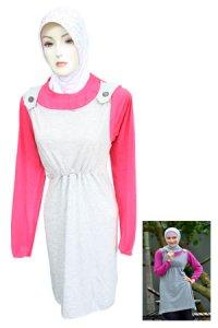 Blus Exora - Model A021 Abu Fanta (Toko Jilbab dan Busana Muslimah Terbaru)